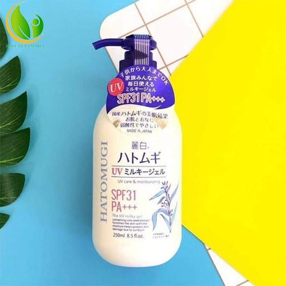 Sữa dưỡng thể Hatomugi giúp làn da trắng sáng, mềm mịn