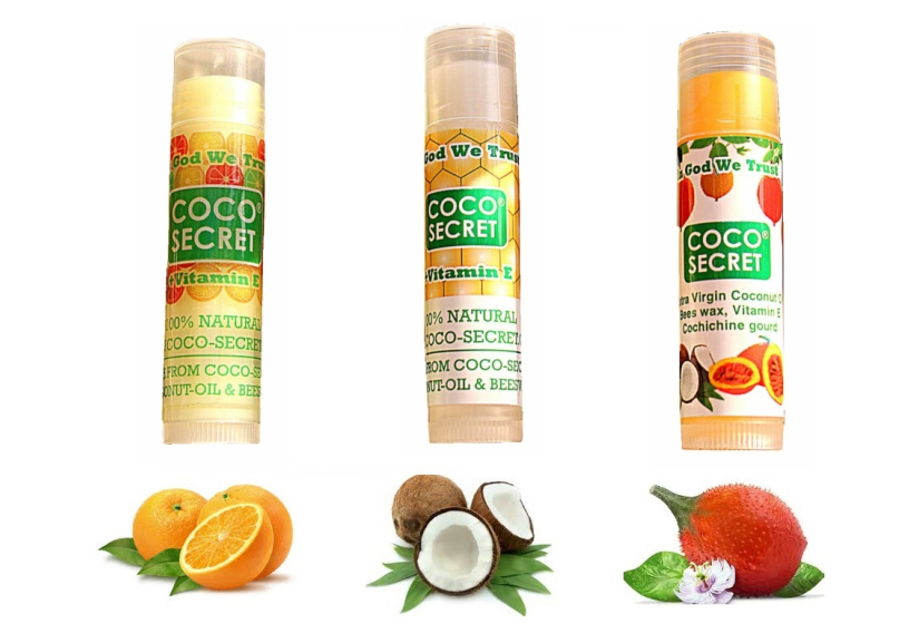 3 loại son môi dầu dừa Coco secret - khoedeptainha.vn
