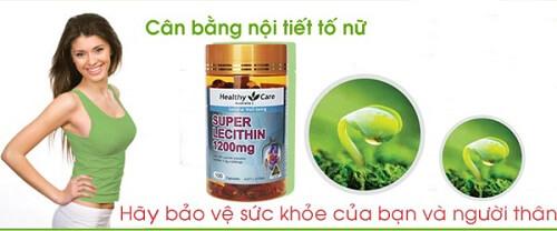 Viên uống mầm đậu nành Super Lecithin 1200mg giúp cân bằng nội tiết tố nữ giới
