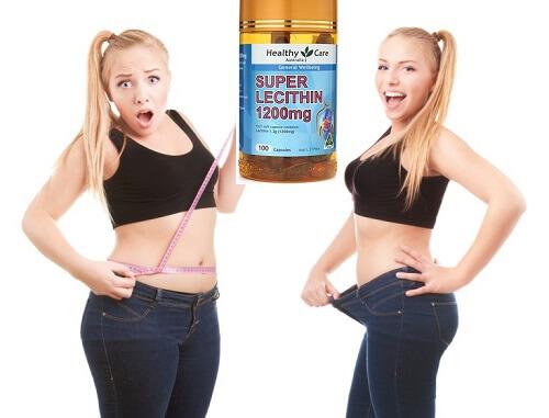 Sử dụng mầm đậu nành Super Lecithin 1200mg còn giúp giảm cân, cho cơ thể thon gọn săn chắc