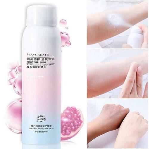 Làn da khỏe mạnh, mướt mịn và bật tông cùng xịt chống nắng Maycreate Moisturizing Spray