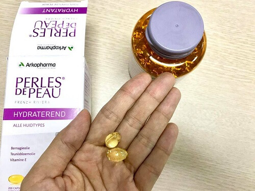02 viên  Perles De Peau Hydratant mỗi ngày cho làn khỏe đẹp từ bên trong
