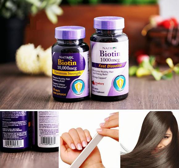 Viên uống mọc tóc Biotin Natrol 10,000mcg - khoedeptainha.vn